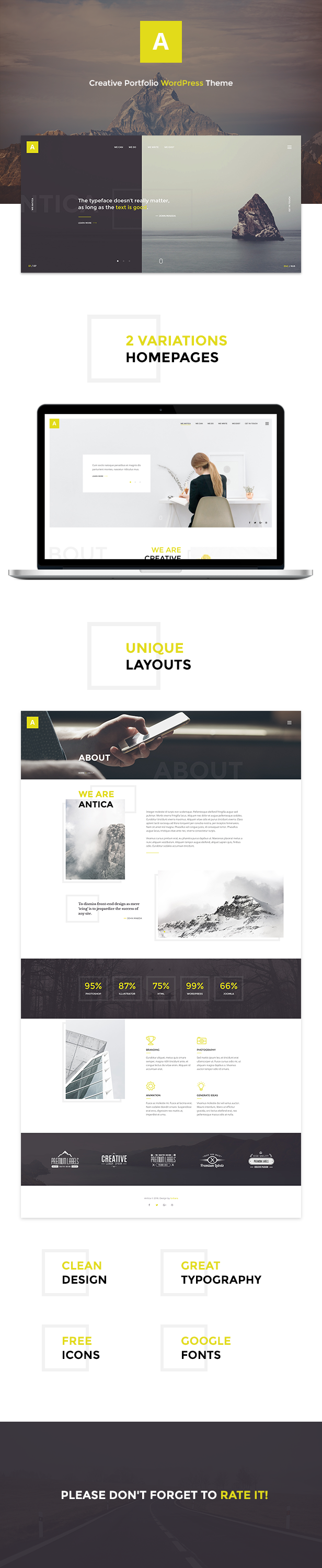 Antica — Multipurpose Business Agency/Personal Portfolio WordPress Theme - 7